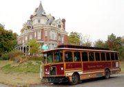 The Atchison trolley makes a scheduled stop at the McInteer home, said to be particularly haunted.