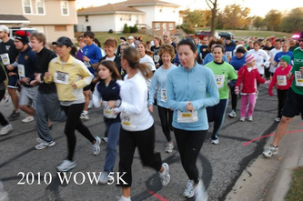 Runners at a previous WOW 5k run.