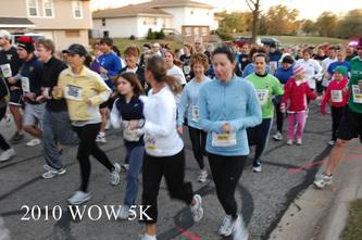 Runners at a previous WOW 5k run.