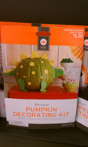 Dinosaur pumpkin decorating kit.