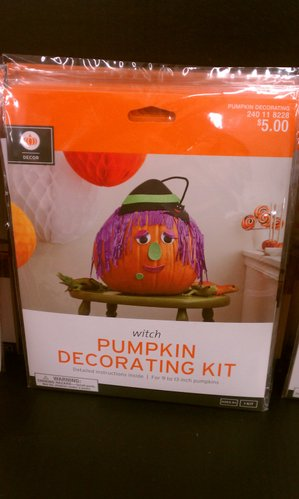 Witch pumpkin decorating kit.