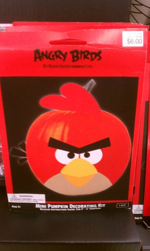 Angry Birds pumpkin decorating kit.