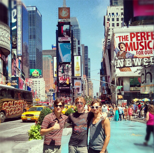 The Noise FM in New York City in August while on tour. Photo courtesy of The Noise FM.
