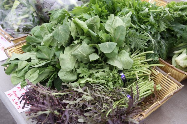 Fresh arugula is just one of the many cool season greens available at Cottin's Hardware Farmers Market.