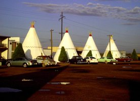 The Wigwam Motel in Holbrook, Arizona, along Historic Route 66