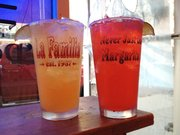 Tarantula Margaritas, in mango and strawberry, at La Familia Cafe and Cantina, 733 New Hampshire