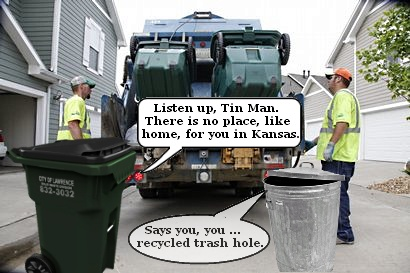 Trash talk in Lawrence, Kansas