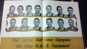 Gene Cusic, third from left on top row, is shown in this 1947 Emporia State yearbook photo.