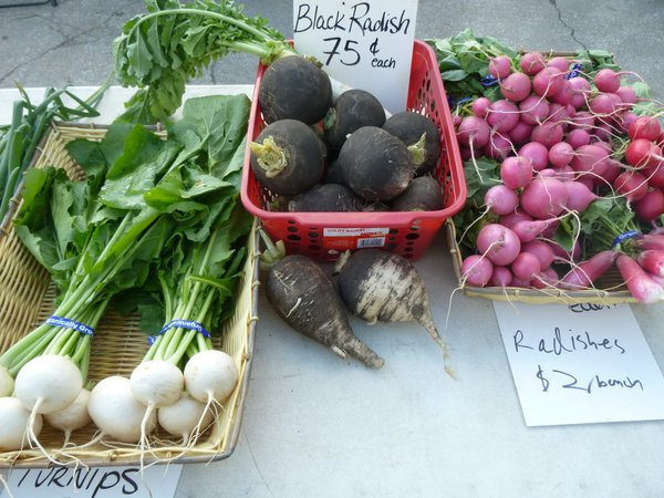The elusive and intriguing black radish can be found from Avery's Produce at Cottin's Hardware Farmers Market - Indoors