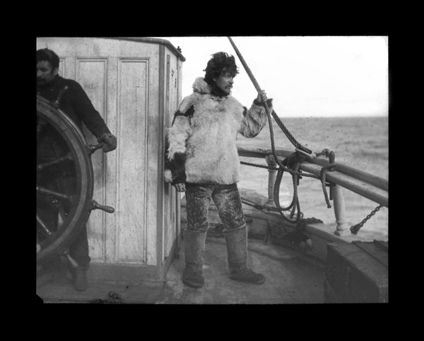 This photo, showing Lewis Lindsay Dyche aboard a shipping vessel, will be part of Kansas University's Natural History Museum's upcoming exhibit about Dyche, who was a conservationist and an explorer among other occupations. KU's Dyche Hall is named after him. Photo courtesy of Kansas University Archives.