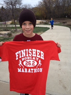 Spencer is a marathoner!