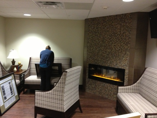 New Second Floor Hospitality Lounge gets final touches before Open House
