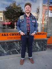 Zachary Dillon, Wichita. Clothing details: hat, online, a year ago, $35; shirt, garage sale, 2008, $3; jacket, JCPenney, five years ago, $4; jeans, Target, last year, $23; boots, Wild Man Vintage, two years ago, $25.