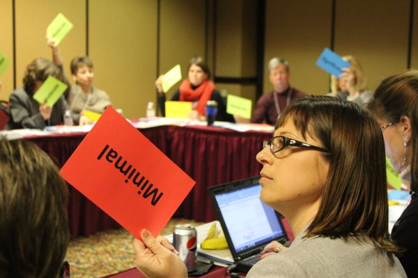 Michelle Ponce, (foreground) director of the Kansas Association of Local Health Departments, was among the participants in the 2012 assessment of the state's public health system.