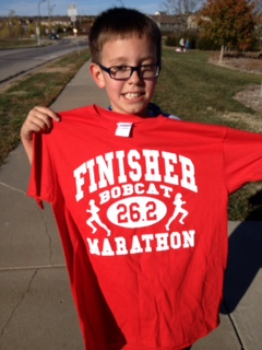 Carson earns his finisher's t-shirt!