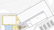 The proposed upper level floor plan for the city's proposed recreation center in northwest Lawrence.