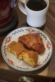Pumpkin-cranberry scones are a treat for those who don't favor sweets.