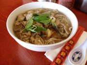 The Pho Combination Bowl (with beef, meatballs, tripe and tendons) at Little Saigon Café, 1524 B W. 23rd St.