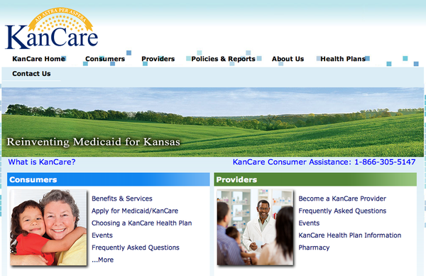 KanCare website. uploaded