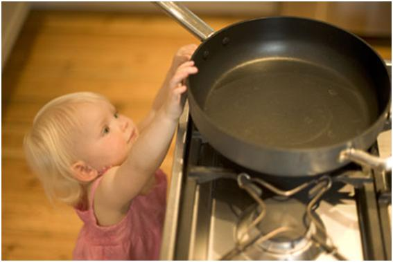 Don't forget to supervise children while cooking this holiday season. uploaded