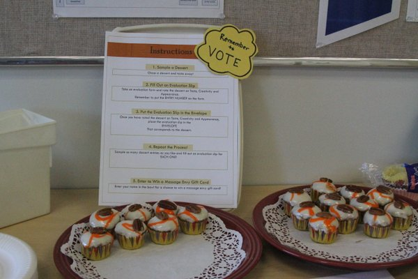Brenda Hawkins, of Child Care Licensing, submitted these miniature carrot cupcakes.
