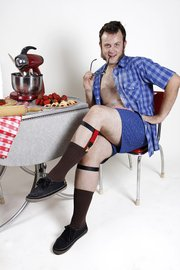 Bobby Bierley, of Lawrence, is Mr. August in the Daddy Oh! 2013 male pinup calendar. The calendar is being sold to raise money for Disabled Furry Friends.