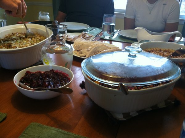 Our Thanksgiving table this year.