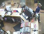 Surveillance camera photo of a suspect in a Sunday night robbery at Zarco 66, 1500 E. 23rd St.