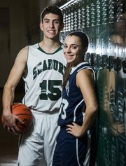Fischer Almanza and Alexa Gaumer hope to lead the Seabury boys and girls basketball teams this winter.