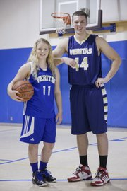 Veritas Christian school senior basketball players Madi Bennett and Thomas Bachert.