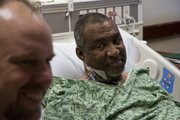 Gillan Alexander, right, received a new kidney from his friend Rob Robinson at Kansas University Hospital.