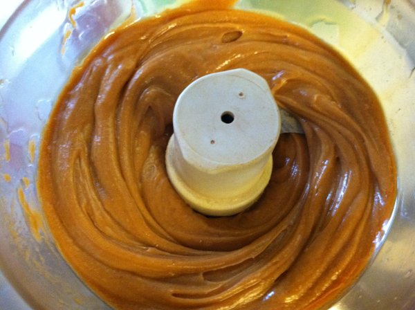 After mixing. (If you like those maple nut butters you can buy in the store, try making your own this way. You're welcome.)