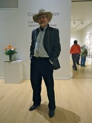 David Brown, Lawrence. Clothing details: Hat, custom made by OFarrell Hats, SantaFe, two years ago; jacket, Jack Henry, four years ago; shirt, L.L. Bean (the Freeport, Maine, store) 20 years ago; pants, Weavers, two years ago; boots, Lucchese custom shop, Santa Fe; belt, The Etc. Shop, three years ago; nutcracker socks, a gift, years ago.