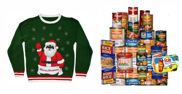Get a $10 flu shot IF you wear an ugly Christmas sweater AND bring a donation for Just Food.