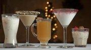 Justin Lee, general manager at Paisano's Ristorante, creates the restaurant's holiday cocktails, all of which are easy enough to make and serve at home. Pictured, from left, are the Holiday White Russian, Godiva S'mores Martini, Workshop Cider, Santa's Little Helper Martini and Something Sinful.