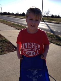 Jacob completed his 2nd marathon today! Woo Hoo!