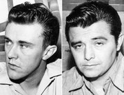 "This combo made from file photos shows Richard Hickock, left, and Perry Smith, the two men hanged for the Nov. 15, 1959, murders of Herb and Bonnie Clutter and their children in Holcomb that became infamous in Truman Capote&squot;s true-crime book ""In Cold Blood."" Their remains were exhumed Tuesday in an effort to solve the slayings of a Florida family killed six weeks later."