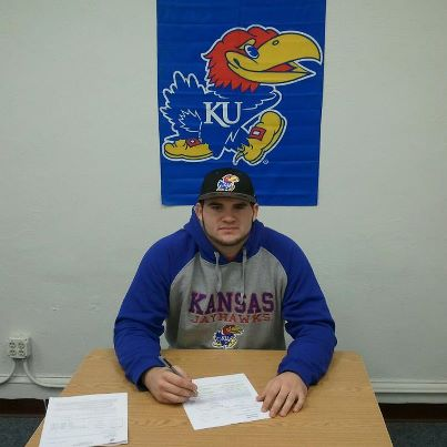 Iowa Western offensive lineman Mike Smithburg made his commitment to KU official this morning.