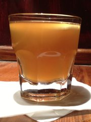 Hot Hard Cider at Henry's Upstairs, 11 E. Eighth St.