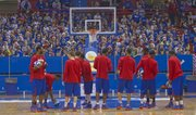 Hundreds of kids were in attendance for the annual KU men's basketball clinic on Thursday December 27, 2012, at Allen Fieldhouse.