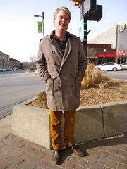 Marcus Ridder, Stockholm. Clothing details: Coat, Ben Sherman, T.J. Maxx, three months ago, $100; pants, Urban Outfitters, a week ago, $30; shoes, Nordstrom, three months ago, $50.