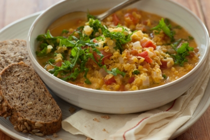 Whole Foods' Indian Red Lentil Soup.