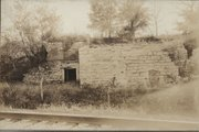 This photo of the ruins of Eudora's Bartusch Brewery is the only known image of the brewery, which supplied beer to Eudora's saloons and residents from roughly 1862 until 1882, when it closed because of state prohibition.