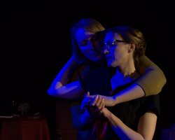 Liza Pehrson as Frances and Samantha Raines as Hilda (H.D.)