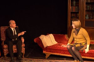 Dean Bevan as Freud, Samantha Raines as Hilda (H.D.)