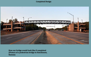 An example provided by Eudora officials of a proposed pedestrian bridge over Kansas Highway 10.