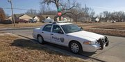 Police were still at 1800 Haskell Wednesday afternoon, where a man was found with a knife in his chest and was pronounced dead on Wednesday January 23, 2013.