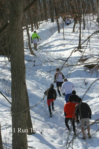 One of many hills in the Run Toto Run event as seen in the heavy snow of 2011. Courtesy of Dick Ross and SeeKCrun.