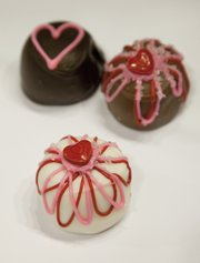 Fancy truffles from Mass. Street Sweet Shoppe, 727 Massachusetts St.