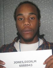 Kansas Department of Corrections photo of Dion Marcell Jones.
